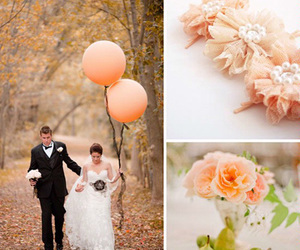 balloons, colors, and peach image