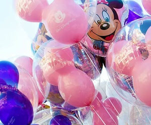 disney, pink, and balloons image