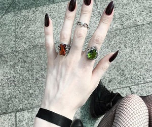 nails, girl, and rings image