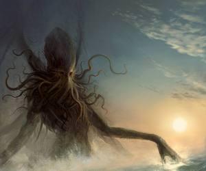 monster and sea image