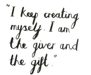 gift, quote, and the words image