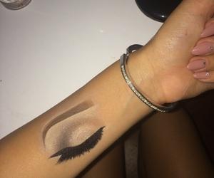 art, hand, and makeup image