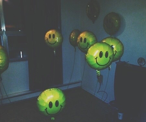 grunge, balloons, and smile image
