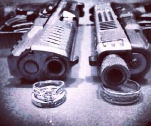 gun, couple, and thug image