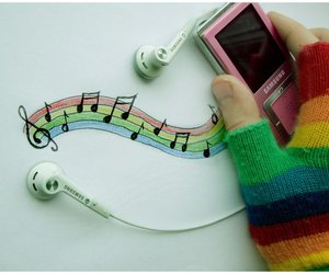 music and rainbow image