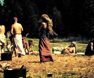 hippie, girl, and beautiful image