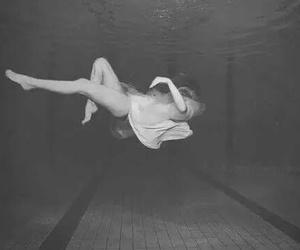 girl, water, and pool image