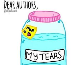 authors, crying, and feels image