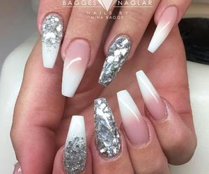 fashion, nails, and silver image