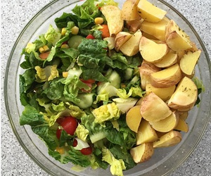 avocado, healthy, and potatoes image
