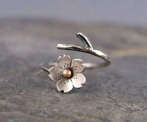 ring, flowers, and jewelry image