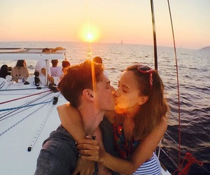 boat, goals, and kiss image
