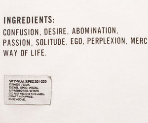 ingredients, life, and desire image