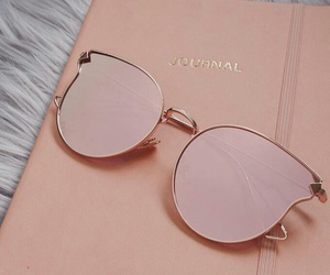 pink, cat eyes, and gold image