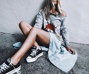 fashion, converse, and sneakers image