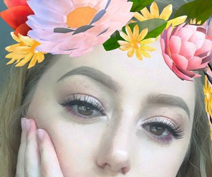 brown eyes, pale, and eyebrows image