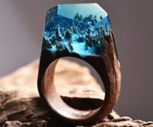 forest, ring, and blue image