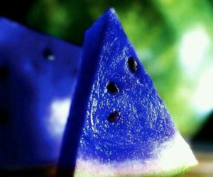 blue, watermelon, and fruit image