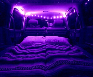 purple, light, and bed image