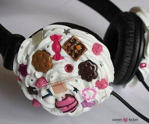 cute, headphones, and sweet image
