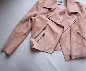 fashion, jacket, and pink image