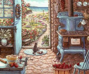 beach, cats, and cottage image