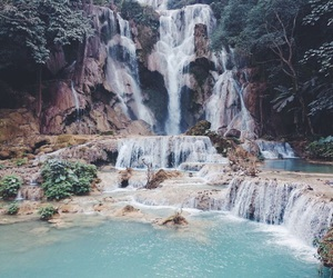 travel, nature, and waterfall image