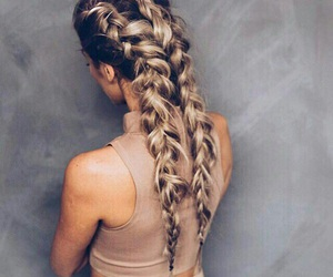beautiful, beige, and braids image