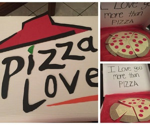 love, pizza, and diy image