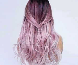 hair, pink, and hairstyle image