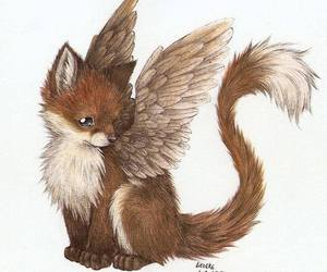 fox, cute, and angel image