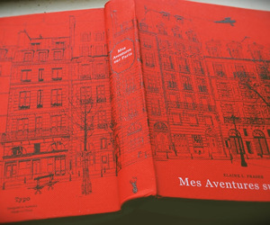 book, paris, and red image
