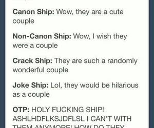 canon, fandom, and ships image