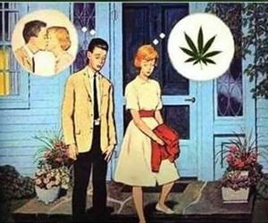 amor, marihuana, and love image
