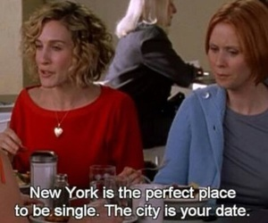 sex and the city, Carrie Bradshaw, and new york image