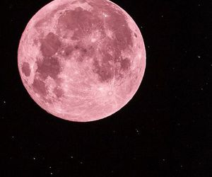 black, moon, and pink image