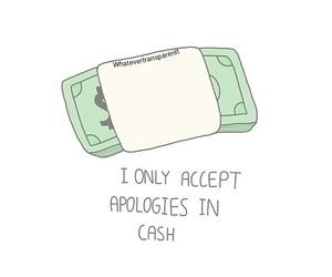 money, overlay, and cash image