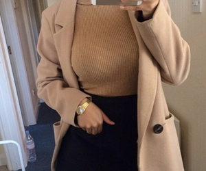 beige, iphone, and outfit image