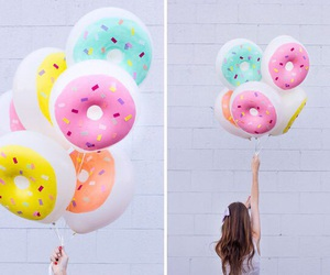 donuts, balloons, and summer image