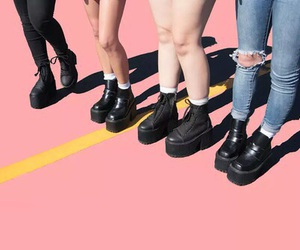 shoes, pink, and grunge image