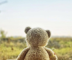 lonely, teddy bear, and cute image