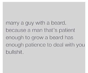 beard, funny, and marriage image