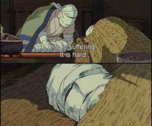 existentialism, Hayao Miyazaki, and movie image