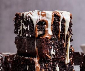 brownie, food, and food porn image