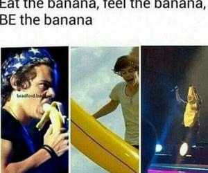 banana, Harry Styles, and funny image