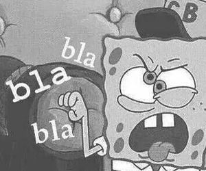 spongebob, funny, and bla bla bla image