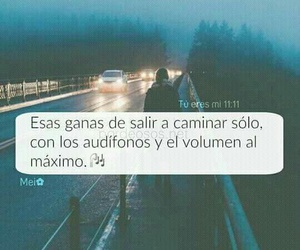 music, frases, and walk image
