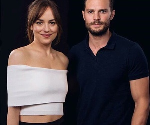 Jamie Dornan, dakota johnson, and damie image