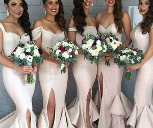 bridesmaids, dresses, and slay image