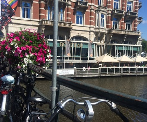 amsterdam, architecture, and bicycle image